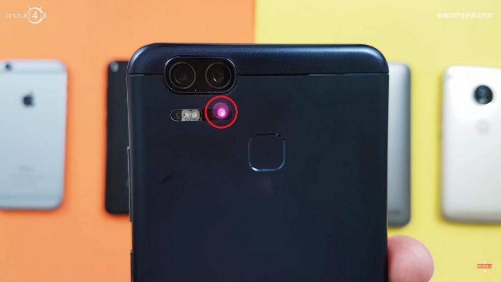 Laser de foco da câmera traseira