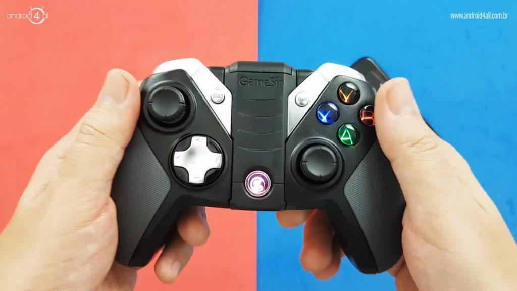 O layout do GameSir G4S é bem parecido com o controle do Xbox