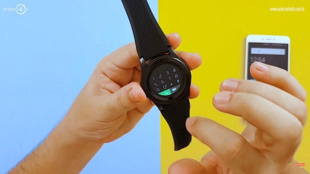 Discador do smartwatch para realizar ligações.