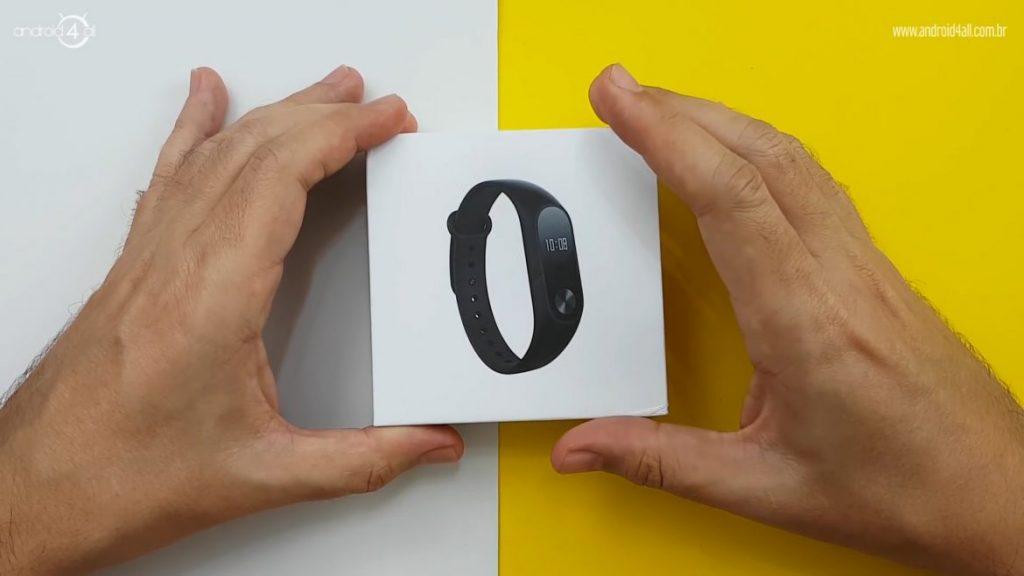 Embalagem da Xiaomi Mi Band 2