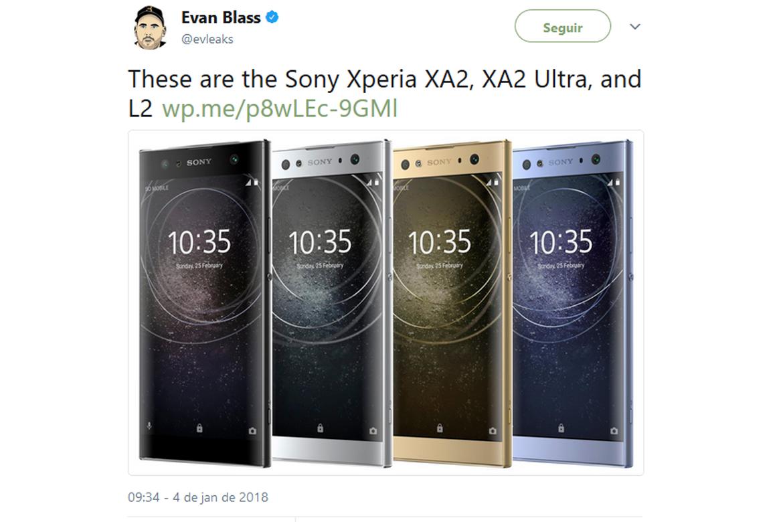 Vazamento dos novos Sony Xperia