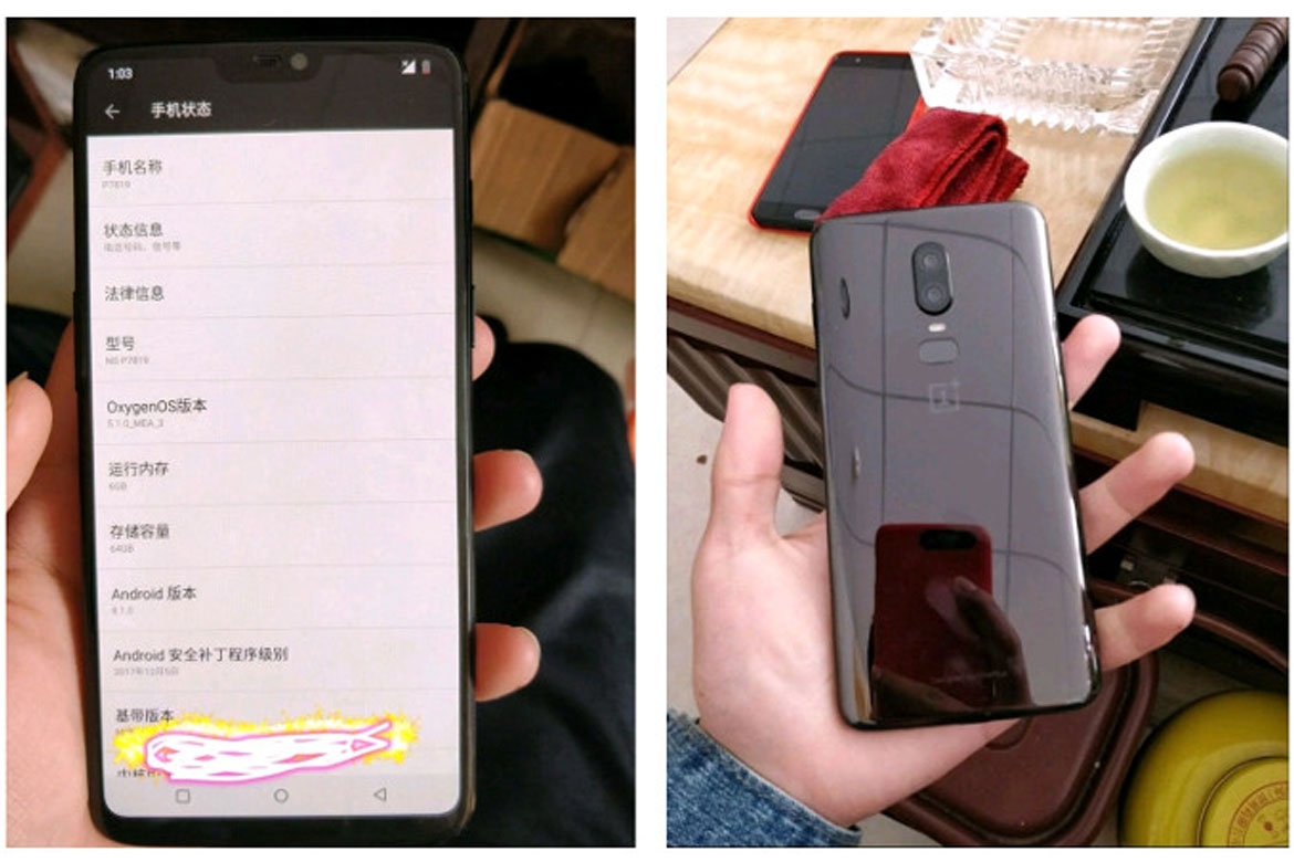 Prototipo OnePlus 6 - Android4All
