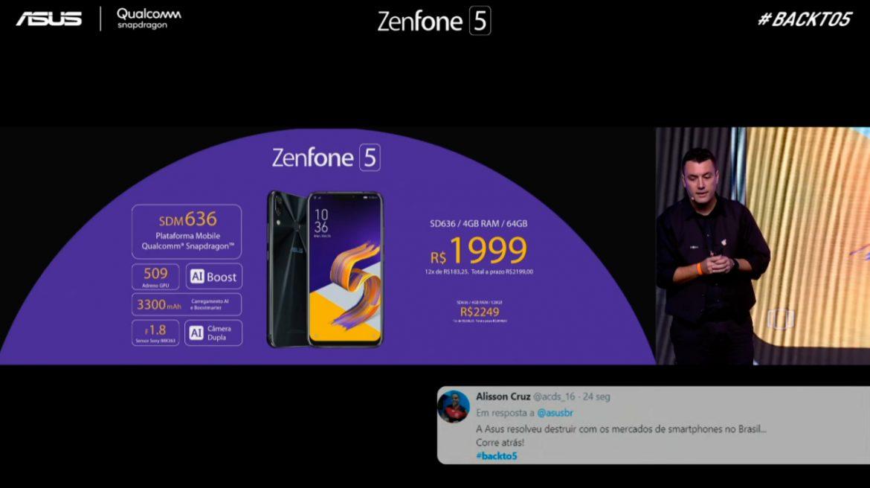 Preço Zenfone 5