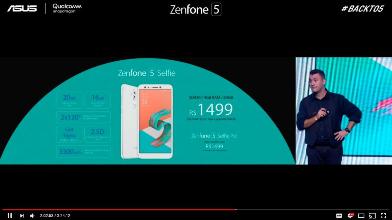 Preço Zenfone 5 Selfie