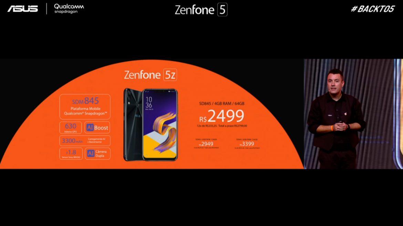Preço Zenfone 5Z